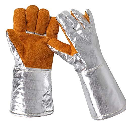 Guanti di sicurezza in alluminio vacchetta catarifrangenti termici per saldatura, guanti protettivi...