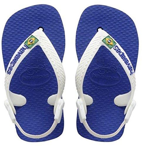 Havaianas Baby Brasil Logo, Infradito Unisex Bimbo, Blu (Marine Blue 2711), 22 EU