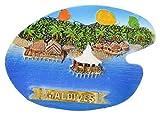 Temple Trees Polyresin Maldives Pallet Fridge Magnet-(7.5 cm X 0.5 cm X 5.3 cm, Tsc M085)