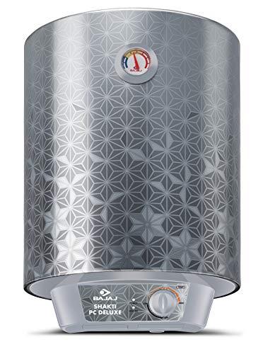 Bajaj Shakti PC Deluxe Storage 10 LTR Vertical Water Heater, Silver, 3 Star