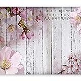 murando Papier peint intissé 350x256 cm Décoration Murale XXL Poster Tableaux Muraux Tapisserie Photo Trompe l'oeil fleurs bois conseils b-A-0202-a-b