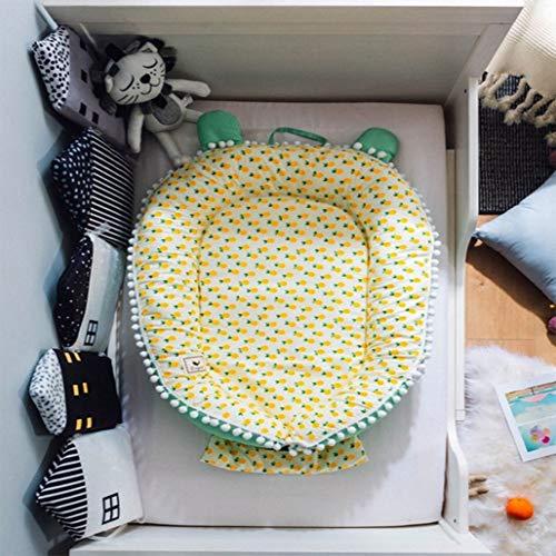 Wan-b Lettino Presepe Portatile Lettino per Neonato Presepe uterino in Cotone Rimovibile Presepe Protettiva,Color2,100x80cm