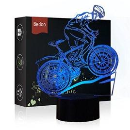 HeXie Cadeau De Noël Magique Volant Vélo Lampe 3D Illusion 7 Couleurs Tactile Interrupteur USB Insérer LED Lumière Cadeau D'anniversaire et Décoration De Fête