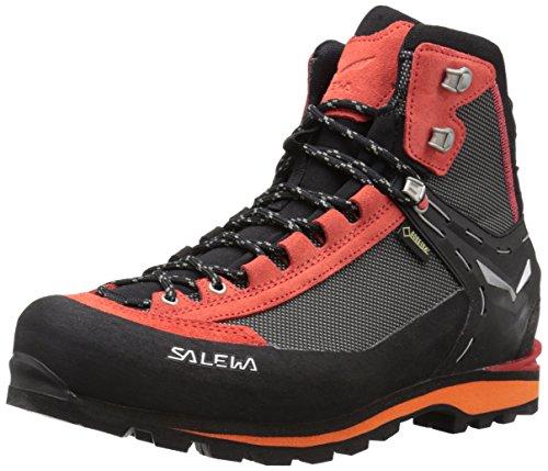 SALEWA Crow Gore-Tex, Scarpe da trekking Uomo, Nero/Rosso (Black/papavero), 44 EU