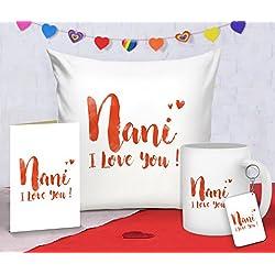 Tied Ribbons 'Nani I Love You' Printed Satin Combo Gift Pack