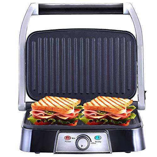 NETTA Panini Maker/Griglia/Pressa a sandwich/Griglia elettrica 1500 Watt/Fredda al tocco,...