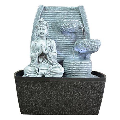 Fontana da interni Feng Shui con luci, 24 cm