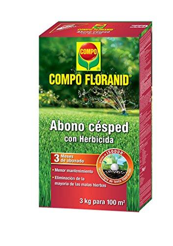 Compo 1331012011 Abono Césped Floranid + Herbicida 3 Kg, 32x18.399999999999999x7.65 cm