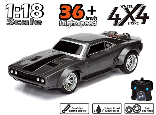 Non ToxicTM Remote Control Radio Controlled Fast and Furious RC Dom's Dodge Charger Car Black Age 6+