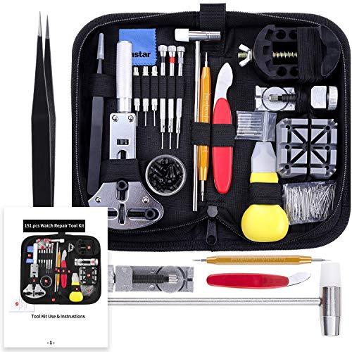 Vastar Tool Kit Professionale di Riparazione Orologi