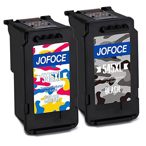 Jofoce Remanufactured Canon PG-545XL CL-546XL 545 546 Cartucce d'inchiostro, Compatibile con Canon...