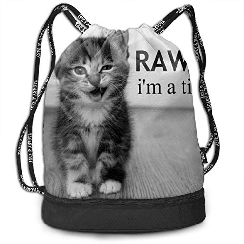 ewtretr Sacche Coulisse Zaino,Borse Sportive, Drawstring Bag Naughty Kitty Shoulder Bags Travel...