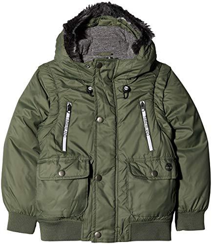 Timberland Blouson Manches AMOVIBLES Cappotto, Verde (Vert Uniforme), 12 Anni Bambino
