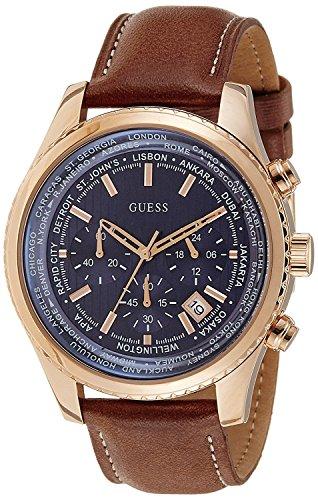 Guess Orologio Cronografo Quarzo Uomo con Cinturino in Pelle W0500G1