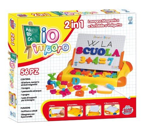 Grandi Giochi- GG75000, Lavagna Magnetica 2 in 1 a Valigetta, Multicolore