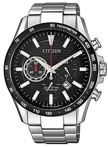 Citizen Herren Analog Quarz Uhr mit Titan Armband CA4444-82E