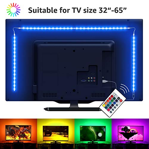 LE Striscia LED RGB Kit di Retroilluminazione TV 2M, Striscia Luminosa USB con Telecomando, 5050...