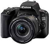 Canon EOS 200D Fotocamera Digitale Reflex con Obiettivo EF-S 18-55mm f/4-5.6 IS STM, Nero