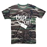 Vape On E-Cig Vaping Cloud Chaser Herren T-Shirt Camo Tarnung XX-Large