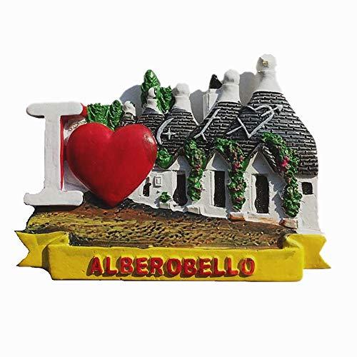 MUYU Magnet Calamita da Frigorifero 3D Trulli Alberobello Bari Italia Souvenir Regalo, Decorazione...