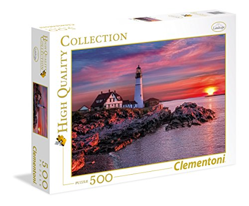Clementoni - 35049 - High Quality Collection Puzzle - Portland Head Light - 500 Pezzi