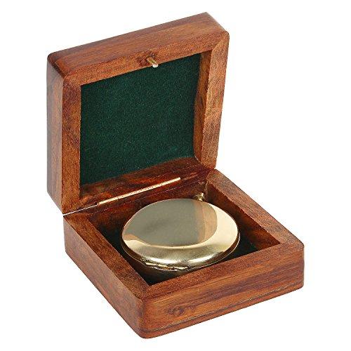 Artshai Push Button Magnetic Compass with Sheesham Wooden Box, Unique Gifting idea