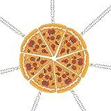 Siete conjuntos de costura Amistad pizza collar de los amantes amigo los amantes del collar
