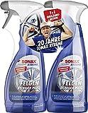 Sonax! Felgenreiniger Xtreme Plus für Alu-Felgen, 2X 500 ml Flasche, Stahl-Felgen etc, Aktivreiniger verfärbt Sich bei Verschmutzungen