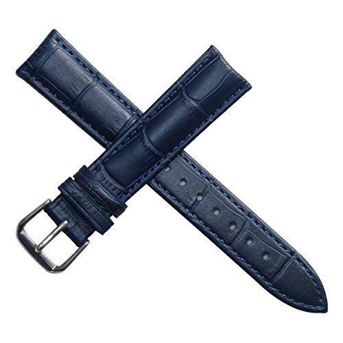 20mm blu scuro cinturini bande per gli uomini o orologi da polso delle donne imbottiti in vera pelle...