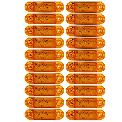 Luci di posizione per camion, 20 pezzi, 12 V, 24 V, SMD, 9 LED, giallo