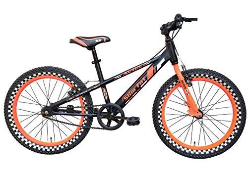 Avon Bicycles Slim Fat 20T Steel Kids Bicycle (Black/Orange)