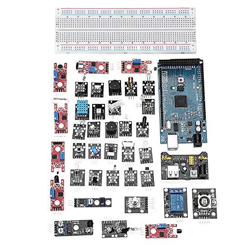 PEJGD Kit Compatibile Arduino e Kit Fai-da-Te for la Scheda di Sviluppo Arduino DIY Mega 2560 R3 HC-SR04 Kit sensore 37 in 1