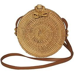 Runde Rattan Tasche, handmade, Korbtasche, Ata bag, Bali bag