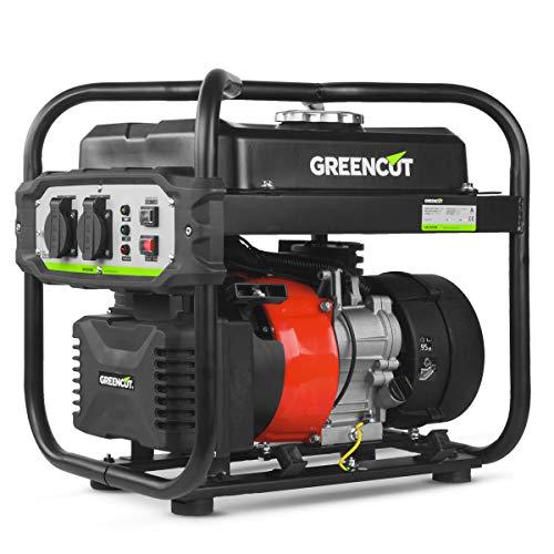 Greencut GRI200XM GRI200XM-Generador electrico Inverter Motor Gasolina 4 Tiempos OHV Salida 2kw 119cc, ROJO