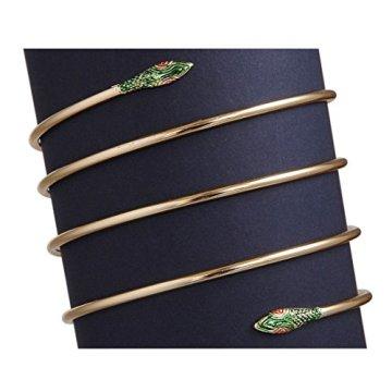 Pulsera en forma de serpiente de Cleopatra oro egipto joyas de la reina antigua diosa oriental 5