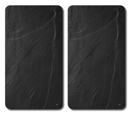 Kesper 3652313 Multi-Glaschneideplatte, 2er-Pack, Motiv: Schiefer, Maße: 52 x 30 x 0,8 cm (Fußhöhe: 0,3 cm)