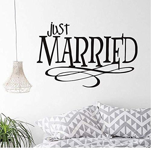 cptbtptp Rimovibile Just Married Creative Design Wall Sticker Impermeabile Citazioni Soggiorno...