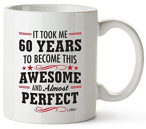 Mug 60th Birthday Gifts for Women 60 Years Old Men Happy Funny 60