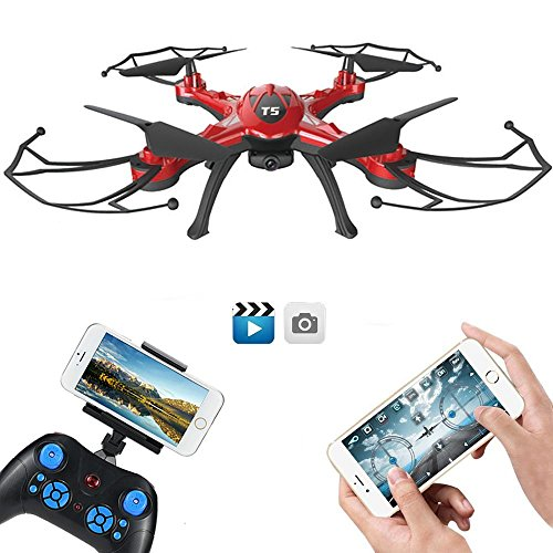 GoolRC T5W Drone con telecamera Live Wifi FPV RC Quadcopter con altitudine funzione Hold