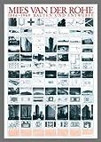 Mal van der Rohe obras de Y de lámina de especificaciones de diseño de carteles de imagen en marco de aluminio en colour negro