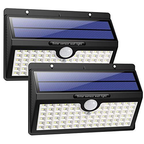 Luce Solare da Esterno, HETP [2Pezzi] 78 LED Lampada Solare con Sensore di Movimento 2000mAh...