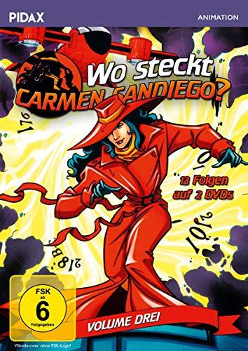 Wo steckt Carmen Sandiego?, Vol. 3 / Weitere 13 Folgen der preisgekrönten Zeichentrickserie zum Mitraten (Pidax Animation) [2 DVDs]