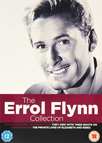 The Errol Flynn 4 Movies Collection: The Adventures of Robin Hood + They Died with Their Boots On + Captain Blood + The Pricate Lives of Elizabeth & Essex (4-Disc Box Set) (Slipcase Packaging + Fully Packaged Import) (Region 2)