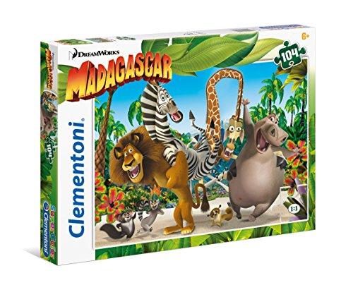 Clementoni - 27941 - Supercolor Puzzle - Madagascar - 104 Pezzi