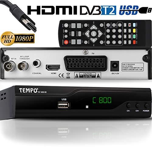 Tempo 4000 Decoder Digitale Terrestre - TNT HD / DVB-T2 / H.265 HEVC / USB / HDMI