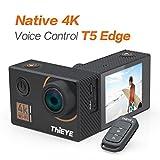 ThiEYE T5 Edge cámara de acción 4K Ultra HD 14MP WiFi Cámara Deportiva Acción Amplio Ángulo de Visión 170°, Pantalla IPS de 2, EIS, Control de Voz, Accesorios Útiles