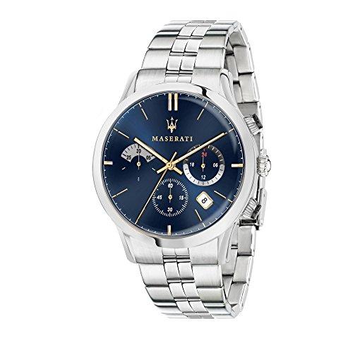 MASERATI Orologio Cronografo Quarzo Uomo con Cinturino in Acciaio Inox R8873633001