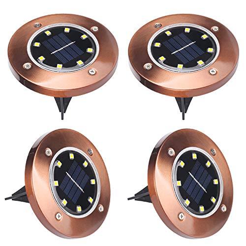 Luci Solari Giardino, ALED LIGHT 8 LED Luci Solari Luci da Terra Solari da Esterno Faretti Solari a...