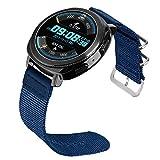 BarRan® 20mm cinturino Nylon , Cinturino cinturino di ricambio in nylon pregiato per Gear S2 Classic (SM R732/R735), Huawei Watch 2 (Sport), Moto 360 2 42mm Men, Pebble Time Round 20mm, Garmin Vivoactive 3