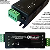 60W Wireless Bluetooth Dual Stereo/Quad Verstärker - Audio Sound System - 8 Lautsprecher Mini Amp - Compact Bar & Restaurant Receiver/Music Player - Loops
